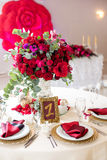 Beautiful flowers on table in wedding day. Luxury holiday background. Stock Image