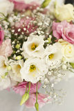 Beautiful flowers on table in wedding day Stock Photos