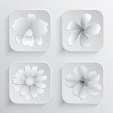 Beautiful Flowers Vector Design For Spa Royalty Free Stock Photos