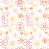 Beautiful flowers vector flora seamless Stock Photos