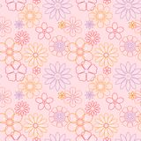 Beautiful flowers vector flora seamless Stock Images