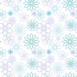 Beautiful flowers vector flora seamless Royalty Free Stock Image