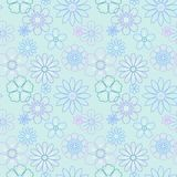 Beautiful flowers vector seamless pattern Royalty Free Stock Image