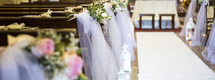 Wedding decoration church stock photos royalty free pictures beautiful flowers wedding decoration in a church stock images junglespirit Gallery