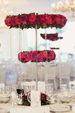 Beautiful flowers on wedding table decoration arrangement Royalty Free Stock Photography
