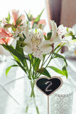 Beautiful flowers on wedding table decoration arrangement. Lovely Royalty Free Stock Image