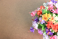 Beautiful flowers on wooden background and copy space Royalty Free Stock Photo