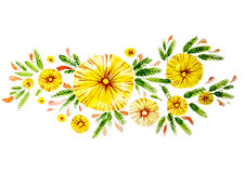 Beautiful flowers of yellow color Stock Images