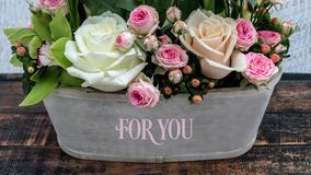 Beautiful flowers for you my love Stock Photo