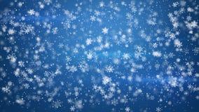 Beautiful fluffy christmas snowfall Stock Photo