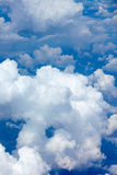 Beautiful fluffy clouds in blue sky, cumulus background Royalty Free Stock Image