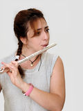 Beautiful Flutist (vertical) Royalty Free Stock Photos