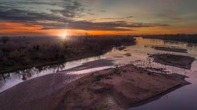 San Joaquin River Sunrise Stock Photos