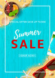 Beautiful flyer for summer sale Royalty Free Stock Photos