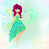 Beautiful flying fairy Stock Image
