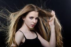 beautiful flying girl hair Στοκ φωτογραφία με δικαίωμα ελεύθερης χρήσης