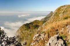 Beautiful fog and cloud on Doi Luang Chiang Dao wildlife sanctua Royalty Free Stock Image