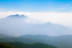 Beautiful foggy landscape in the mountains, Chiang Mai, Thailand Stock Photography