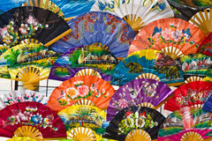 Beautiful Folding Fans Royalty Free Stock Images