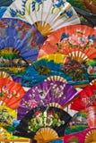 Beautiful Folding Fans Royalty Free Stock Photography