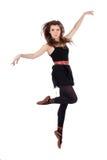 Beautiful folk dancer jumping Royalty Free Stock Photo