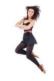 Beautiful folk dancer jumping Stock Photo