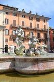 Beautiful Fontana del Moro on Piazza Navona in Rome, Italy Stock Photo