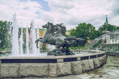 Beautiful fontein in Moscow. 2015 royalty free stock images