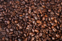 the beautiful food background of roasted coffee beans Stock Photography