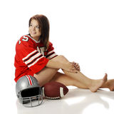 Beautiful Football Fan Royalty Free Stock Photos