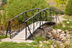 Beautiful footbridge Stock Photography
