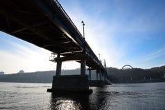 Beautiful footbridge  and blue sky Stock Photos
