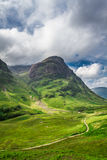 Beautiful footpath in the Scotland highlands Stock Photography