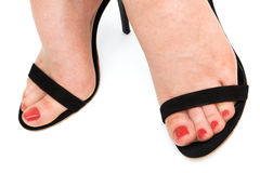 Beautiful foots in shoes Royalty Free Stock Photography
