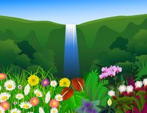 Beautiful forest background royalty free illustration