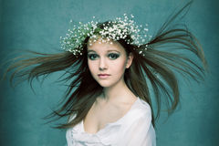 Beautiful Forest Fairy Royalty Free Stock Photography
