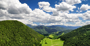 Beautiful forest landscape and cloudscape Royalty Free Stock Photo