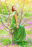 Beautiful forest nymph Royalty Free Stock Photos