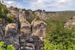 Bastei Mountain reserve. Saxon Switzerland Royalty Free Stock Images