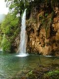 Beautiful forest waterfall. Plitvicka jezera. Croatia Royalty Free Stock Images