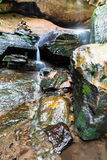 A beautiful forest waterfall Royalty Free Stock Photos