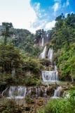 Beautiful forest waterfall Stock Image