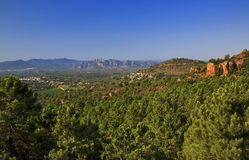 Beautiful Forested, Rocky and Mountainous landscape of the Var Royalty Free Stock Images
