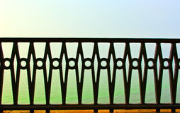 Beautiful forged fence Royalty Free Stock Image
