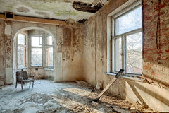 Beautiful, forgotten and destroyed house Royalty Free Stock Image