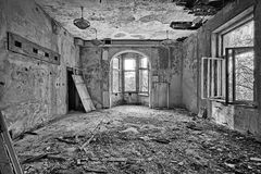 Beautiful, forgotten and destroyed house Royalty Free Stock Photography