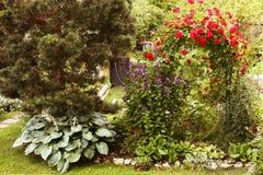 Beautiful formal garden close up photo Royalty Free Stock Photos