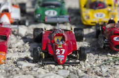 Beautiful formula cars at the sun Stock Image