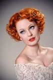 Beautiful retro portrait Stock Photography