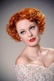 Beautiful retro portrait Stock Photography